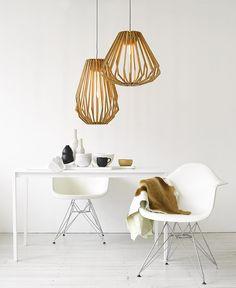 Beacon Lighting - Stockholm 1 Light Squat Flair Pendant in Natural Wood Decor, Home Lighting, Diy Chair, Beacon Lighting, Interior, Lights, Modern Pendant Light, Wood Pendant Light, Home Decor