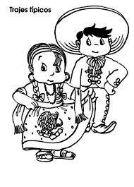 Trajes t picos de m xico para colorear recortables for Mexican independence day coloring pages
