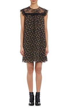 Philosophy di Lorenzo Serafini Rosebud-Print & Lace Shift Dress at Barneys New York