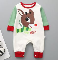 Victory! Check out my new Cute Deer Color Contrast Print Long-sleeve Jumpsuit for Babies, snagged at a crazy discounted price with the PatPat app.