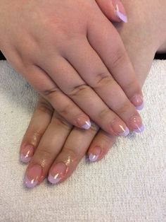 French manicure with color