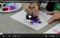 Grapevine wine glass video tutorial