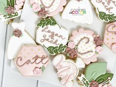 I'm so glad that more and more couples are able to go forward with their wedding plans. I know it's been a stressful time for a lot of blushing brides. 👰💒😊 Wedding Shower Cookies, My Sister In Law, Brides, Wedding Planning, Photo And Video, Couples, Color, Instagram, Colour