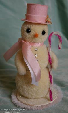 Pink Sugar Snowgirl