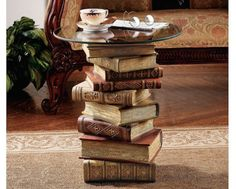 Stacked books table lamp book lamp lamp bases and books dco 10 ides pour booster un salon aloadofball Image collections
