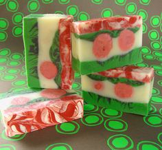 Soap Queen | Cheery Holiday (Advanced) CP Soap  **Gotta try this next year!**  Cold Process Soap #CP #Soap