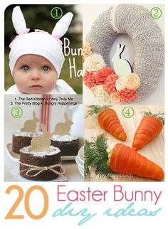 20 Adorable DIY Bunny-themed projects via I Gotta Create!