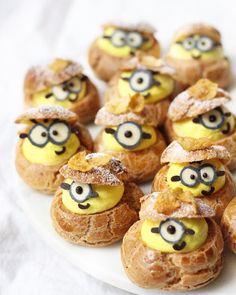 Minion cream puffs by Michelle Lu (@sweet_essence_)