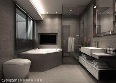 Modern Luxury Bathroom, Modern Master Bathroom, Bathroom Design Luxury, Bathroom Layout, Dream Bathrooms, Modern Bathroom Design, Home Interior Design, Dark Gray Bathroom, Luxurious Bathrooms