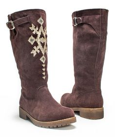 Dark Brown Barbie Boot by MUK LUKS #zulily #zulilyfinds