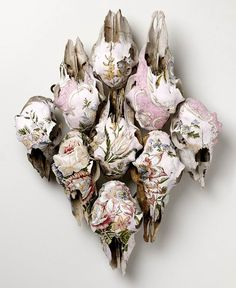 floral painted animal skulls