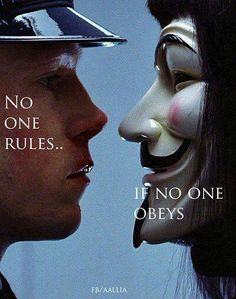 order controls anarchy and anarchy controls order neither is the stronger neither, can exist without each other.
