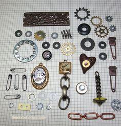 Get Steamy Industrial Steampunk Jewelry by SaintsandSinnersShop, $11.00