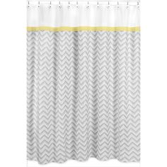 Sweet Jojo Designs Yellow and Grey Zig Zag Shower Curtain - Overstock™ Shopping - Great Deals on Sweet Jojo Designs Shower Curtains