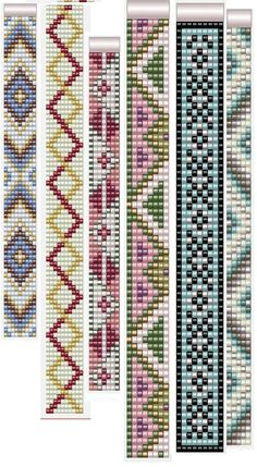 off loom beading techniques Loom Bracelet Patterns, Bead Loom Bracelets, Bead Loom Patterns, Beaded Jewelry Patterns, Weaving Patterns, Mosaic Patterns, Bead Embroidery Patterns, Beading Patterns Free, Beaded Embroidery