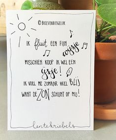 Doodle Lettering, Brush Lettering, Dutch Quotes, Best Vibrators, My Sunshine, Spring, Letter Board, Qoutes, Favorite Quotes