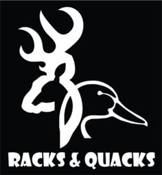 Racks and Quacks Hunting Hunt Vinyl Decal Sticker Car Truck 5 5"