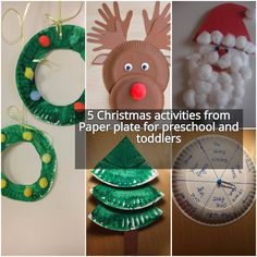 Paper plates are really useful everywhere. In school, we can make so many different arts and crafts out of paper plates. Following are some activity props we can make for this Christmas.