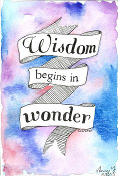 Wisdom Begins in Wonder by AmyYang on deviantART