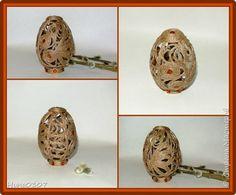 Поделка изделие Пасха Моделирование конструирование Ажурное пасхальное яйцо Шпагат фото 1
