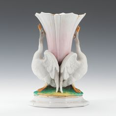 Victorian Vase with Swans