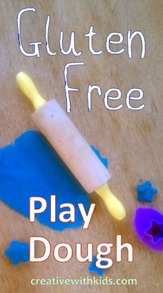 A gluten free play dough recipe.  Play dough always makes for a better day, I'm so glad to find a good recipe for it.