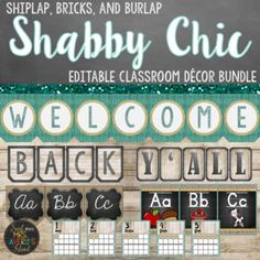 Shabby Chic Farmhouse Classroom Decor Bundle by Kelly Avery Mrs Avery's Island Classroom Setup, Classroom Organization, Pencil Labels, Basket Labels, School Folders, Back To School Essentials, Shabby Chic Farmhouse, School Decorations, Teaching Tips