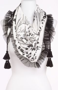 Betsey Johnson Tassel Scarf available at Nordstrom
