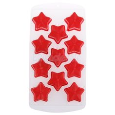 Stars Ice Cube Freeze Maker Mold Tray Jelly Mould Lattice Party Bar Tool