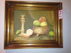 fruit still life: available for purchase at Uncommon Market Dallas, 100 Riveredge Drive, Dallas, Texas 75207; call us @ 214-871-2775 if you would like to put this item on a 2 day HOLD.
