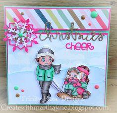 Kith and Kin Stamp Company Christmas Cheer by TrinityRoseDesigns29, $5.00