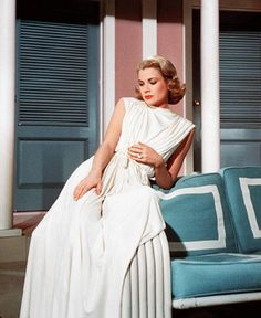 """Grace Kelly in """"High Society"""" (1956) costume design by Helen Rose.  Grace Kelly was usually dressed by either Edith Head or Helen Rose."""