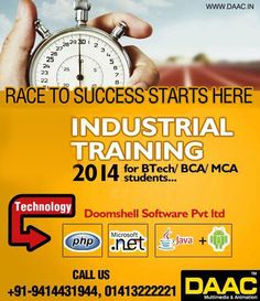 Industrial Training in Jaipur, DAAC provides industrial training for B.Tech and MCA students