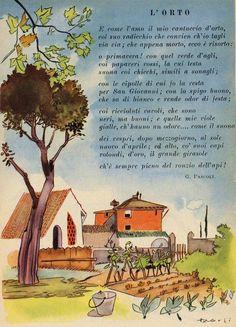 Old Books, Vintage Books, Vintage Cards, Vintage Posters, Learn To Speak Italian, Vintage School, Italian Language, Learning Italian, Naive Art