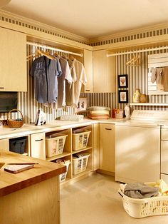 wonder if I would get laundry done if I had a room like this
