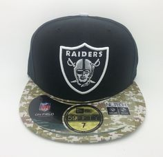 OAKLAND RAIDERS NFL NEW ERA 59 FIFTY SALUTE SERVICE FITTED HAT/CAP (SIZE 7)--NEW #NEWERA59FIFTY #OaklandRaiders