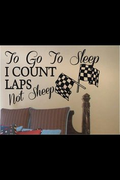 Perfect for a racing-themed bedroom!