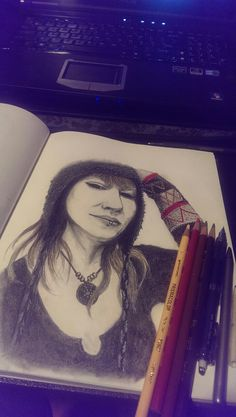 Self Portrait 2015 - Final by Amy Suzanne Taggart aka Amz  #amzart #artist #artwork #sketch #drawing #art #illustration
