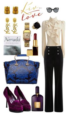 """""""💜🌹🌸💕"""" by ana-aleta ❤ liked on Polyvore featuring Riess, Tom Ford, Yves Saint Laurent, Patagonia, Oasis, Burberry, Givenchy, Judith Ripka and Fendi"""