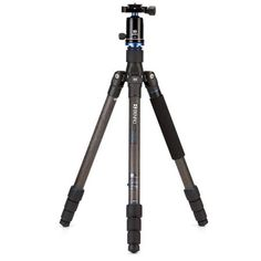 Benro Travel Angel 9X Carbon Fiber Series 2 Tripod Kit with V1 Ballhead, 4 Section, Twist Lock, Monopod Conversion