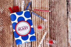 Hope You Have a Blast Tag -  4th of July - make cute treat bags for the firework show!