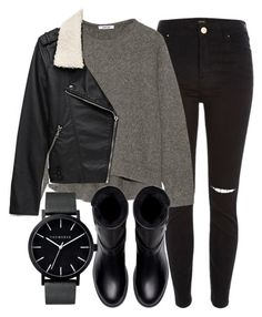 """""""Untitled #4752"""" by laurenmboot ❤ liked on Polyvore featuring River Island, Helmut Lang, Forever 21, Zara and The Horse"""