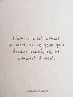 L'amour c'est comme la mort - Neue Layouts My Life Quotes, Sad Quotes, Quotes To Live By, Inspirational Quotes, French Quotes, English Quotes, Language Quotes, Visual Statements, Some Words