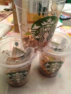 small clear cup, with some chocolates and a 10$ starbucks card make a great little gift (for secretaries, etc). So cute Starbucks Gift Baskets, Starbucks Gift Card, Christmas Baskets, Christmas Gifts, Teacher Stuff, Teacher Gifts, Secretary Gifts, Secretary's Day, Starbucks Christmas