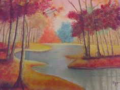 Sigo con mis clases de pintura Paisaje Oleo