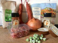 Seafood & Chorizo Paella recipe on the blog