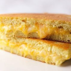 90 second bread turned into a low carb grilled cheese sandwich