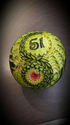 watermelon fruit thai carving birthday inspiration