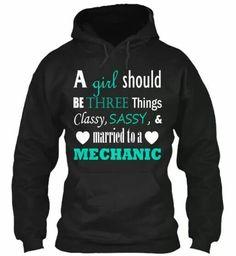 Married to a mechanic hoodie