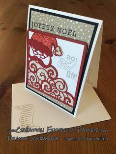 Stampin'Up! Carte Noël Christmas Card Thinlits Père Noël ouvragé Detailed Santa Thinlits Dies www.creationencreetpapier.com